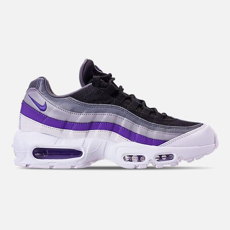 best service 7e241 143c7 Right view of Men s Nike Air Max 95 Essential Running Shoes in  White Persian Violet Cool Grey