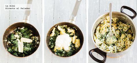 Pasta Espinacas y alcachofa