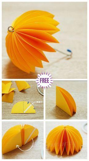 Kids Craft Easy Origami Paper Umbrella Diy Tutorial Easy Crafts For Teens Origami Easy Easy Crafts For Kids