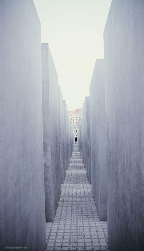 Berlin. Denkmal für die ermordeten Judens Europa, Berlin Mitte.