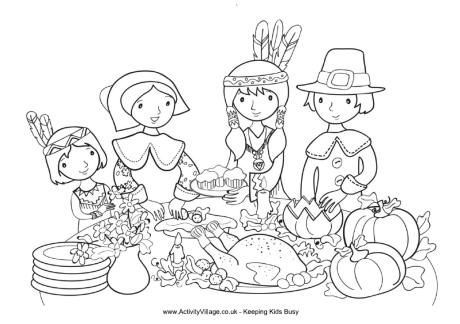 Printable Thanksgiving Food Colouring Pages For Kindergarten
