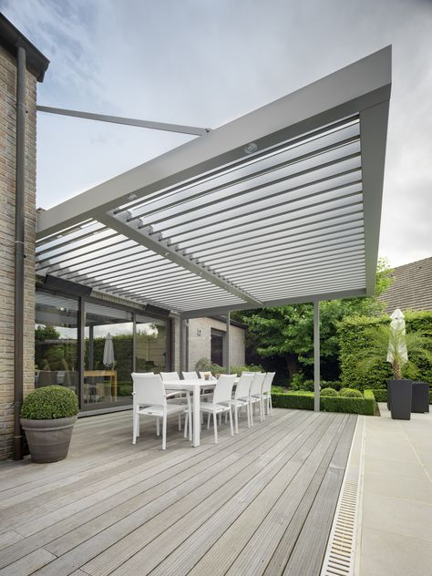 This all-weather patio roof system   Kingsland Road   UmbrisbyIQ