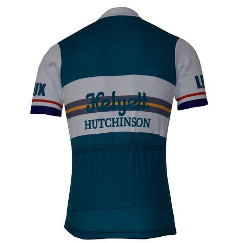 289e63ee8 Helyett Leroux Team Retro Cycling Jersey Blue White