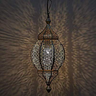 Amazon Com Home Sake Classic Moroccan Orb Hanging Lamp Antique And Gold Metal Hanging Decorative Pendant Celling Turkish Lights Hanging Lamp Moroccan Decor