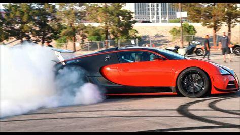 Watch a Rear-Wheel Drive-Swapped Bugatti Veyron Roast its