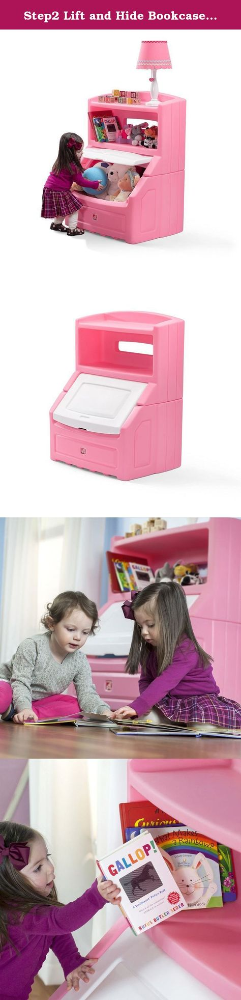 Step2 Lift And Hide Bookcase Storage Chest Pink The Step2 Lift Hide Bookcase Storage Chest Is The Per Bookcase Storage Toy Boxes Kids Furniture