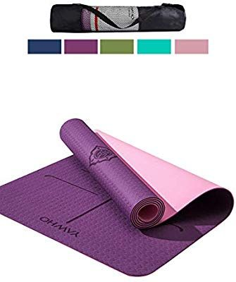 Amazon Com Yawho Yoga Mat Fitness Mat Eco Friendly Material Sgs Certified Ingredients Tpe Specifications 72 X 26 Th Large Yoga Mat Mat Exercises Yoga Mat