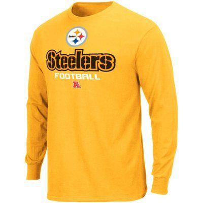 95f739e3e Pittsburgh Steelers Critical Victory V Long Sleeve T-Shirt - Gold ...