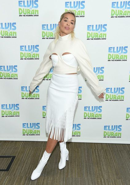 Rita Ora visits 'The Elvis Duran Z100 Morning Show' at Z100 Studio.