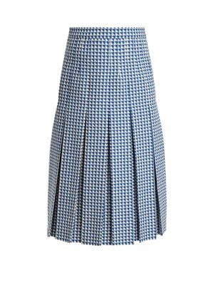 69429936 Pleated wool-blend tweed skirt | Gucci | MATCHESFASHION.COM UK ...