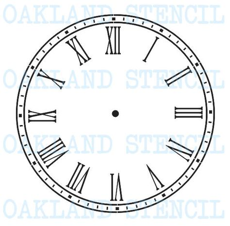 Select Size Parisian Roman Numerals Farmers Market Words 18 Small to Extra Large DIY Painting on Wood Home Decor Round Clock Stencil