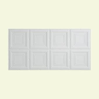 Fasade Portrait 2 Ft X 4 Ft Glue Up Ceiling Tile In Gloss White Reviews Wayfair In 2020 Pvc Ceiling Tiles Ceiling Tile Ceiling Panels