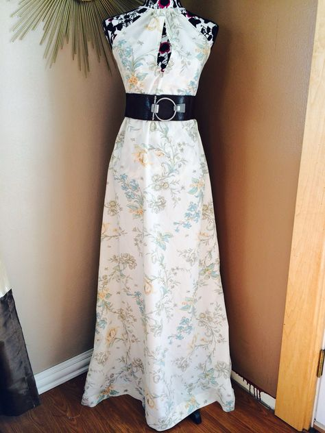 Maxi dress up cycled from a bed sheet