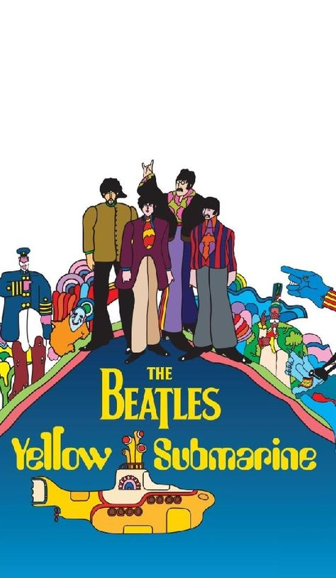 Beatles Poster Yellow Submarine Cover 61 x 91,5 cm Plakat Wanddeko Wandbild