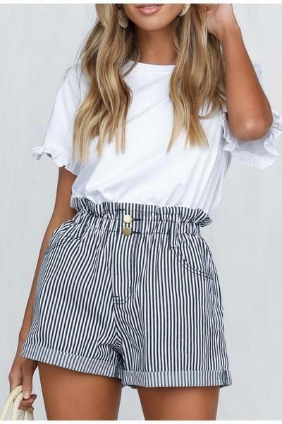 Outfits Con Shorts Pantalones Cortos De Mujer Moda De Ropa Ropa De Moda