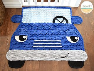 Jimmy The Hybrid Car Rug Crochet Rug Patterns Crochet Car Rug Pattern