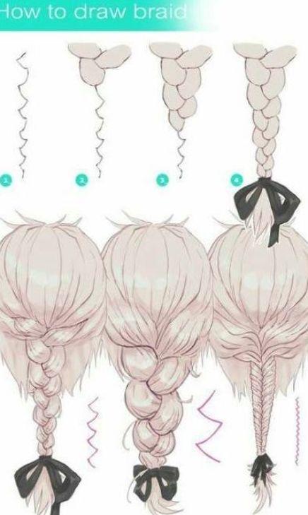 Hair Braids Tutorials How To Draw 34 Ideas Hair Braids Howto Zeichenvorlagen Haare Zeichnen Haare Flechten Anleitung