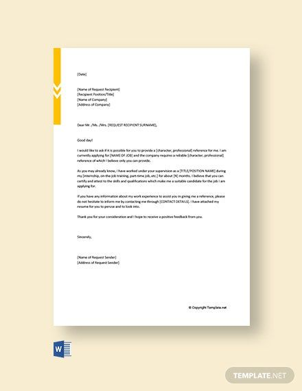 Request For Job Reference Letter Template Free Pdf Word Template Net Reference Letter Template Letter Template Word Reference Letter Sample adoption reference letter
