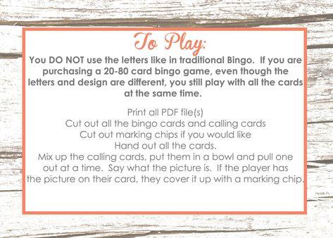 Halloween Bingo 20 Cards INSTANT DOWNLOAD