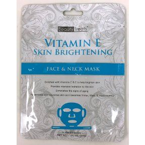 Beauty Treats Vitamin E Skin Brightening Face And Neck Mask 24 Ct Click On The Image For Additional Details Skin Brightening Beauty Treats Nourishing Skin