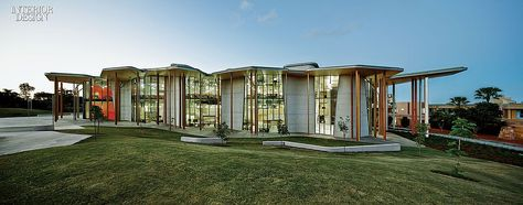 This New School of Architecture is a Crazy Canyon of Concrete and Wood. Abedian School of Architecture at Bond University in Queensland, Australia.