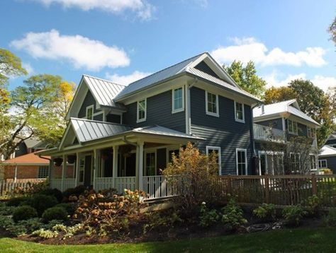 Dutch Gable Roof Combines A Hip Roof With A Gable Bringing Home Advantages Of Both Styles Metal Roof Houses Exterior House Colors Dutch Gable Roof
