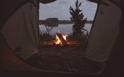 تحميل خلفيات نار مساء غروب الشمس عرض من الخيمة المعسكر المزاج المفاهيم السفر المفاهيم Besthqwallpapers Com Tent Winter Fire Photo