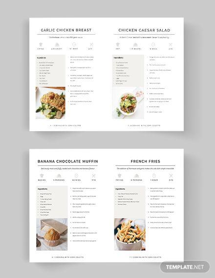 Self Publish Cookbook Template , Recipe Book Templates, Cookbook Template, Book Design Templates, Cookbook Cover Design, Recipe Book Design, Food Graphic Design, Food Design, Family Recipe Book, Chocolate Banana Muffins