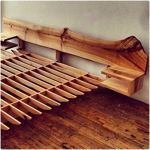 Balken Bett Von Edictum Unikat Mobiliar Bett Dawanda Und Betten