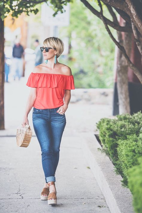 EARRINGS » TOP » JEANS(on sale!) » WEDGES » PURSE(sold out but keep checking, they always restock) We are in the home stretch! My kids have 5 days of school left and we are ALL doing the happy dance… well most of us, it's a little bittersweet for this mama. I love not having a …