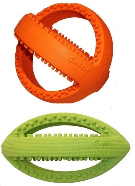 Details About Grubber Large Heavy Duty Rubber Dog Toy Football