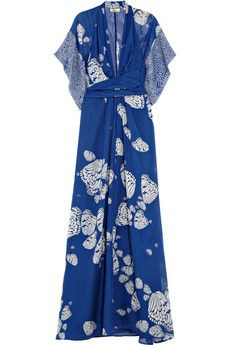 Issa printed silk-georgette maxi dress | THE OUTNET #THEOUTNET5
