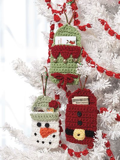 Crochet fast and easy gift card holders or cash holder pattern #crochet #crochetchristmas #crochetgifts