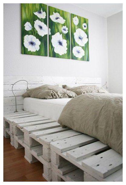 Home Goods Bed Frames : goods, frames, Ideas, White, Pallet, Frames, #beds, Frames,, Goods, Decor,
