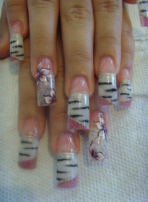 Zebtras Rosa by eimy_djej via @nailartgallery #nailartgallery #nailart #nails #handpainted