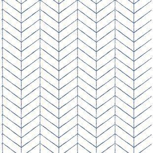 Modern Blue Wallpaper Allmodern Herringbone Wallpaper Farmhouse Wallpaper Chevron Wallpaper