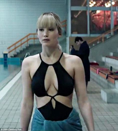 Revealing role: Jennifer Lawrence said being naked for a scene in her new thriller Red Spa...