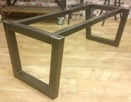 61 Ideas Diy Table Base For Glass Top Diy Steel Table Base