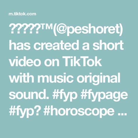 𝐋𝐢𝐛𝐫𝐚™(@peshoret) has created a short video on TikTok with music original sound. #fyp #fypage #fypシ #horoscope #horoskopi #zodiac #zodiacsigns #zodiacsign #zodiacpost