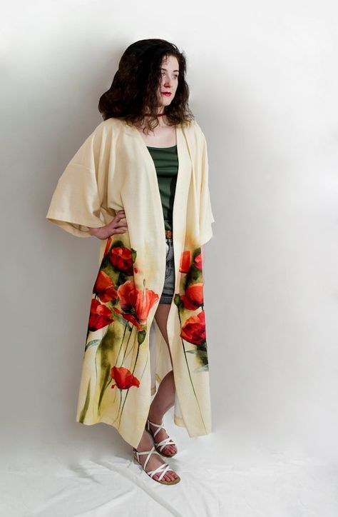 Long floral long sleeves front open kimono cardigan  Boho chic festival cover up coat Women  oversized fashion  Trendy plus size clothing