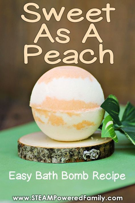 Sweet as a Peach – Easy Bath Bomb Recipe Sweet as a Peach! This easy peach bath bomb recipe smells good enough to eat and is a great chemistry lesson for kids. via STEAM Powered Family Good Enough, Homemade Bath Bombs, Homemade Soap Recipes, Bath Fizzies, Bath Salts, Best Bath Bombs, Making Bath Bombs, Bath Boms, Bombe Recipe