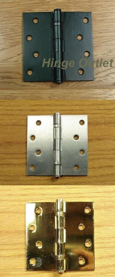 Door Hinges 66739 Ball Bearing Door Hinges 4 Inch Square Multiple Finishes 2 Pack Buy It Now Only 10 95 On Ebay Hinges Be Door Hinges Hinges Doors