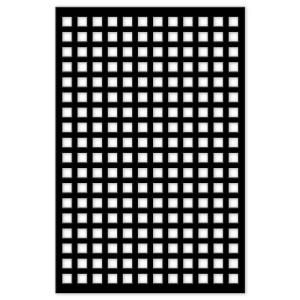 Acurio Latticeworks Square 32 In X 4 Ft Black Vinyl Decorative Screen Panel 3248pvcbk Sqr Decorative Screen Panels Plastic Lattice Decorative Screens