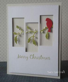 Sue's Card Craft: CAS Christmas GD - #Card #CAS #Christmas #Craft #GD #Sue39s