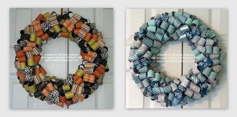 Curled Paper Wreaths   Brenda Keenan