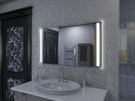 Beleuchteter Badspiegel LED - M18L2V Pinterest