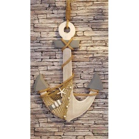 Maritiem Houten Decoratie Anker 80cm Incl Touw Decoratie Zomerdecoratie Houten Decoraties