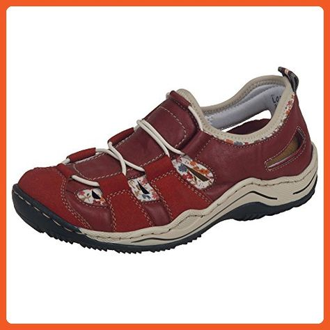 Rieker womens slipper redwhite multibeige size 39.0 EU