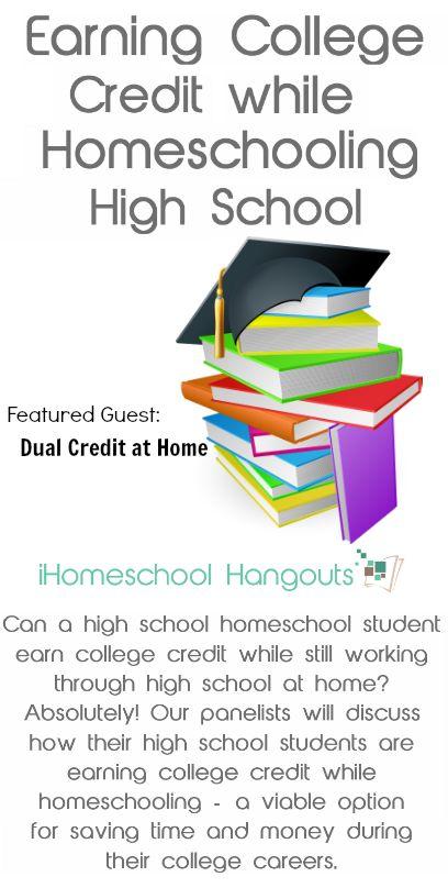 Earning College Credit During High School--iHomeschool Hangout & Podcast • iHomeschool Network
