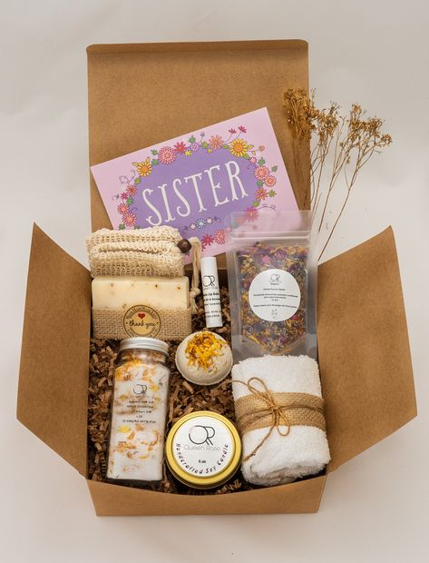 Sister Gift box/Sister Birthday gift/Sister self care gift/ Best friend gift box / Friendship gift/ spa gift set. by QueenRoseGiftSpa on Etsy